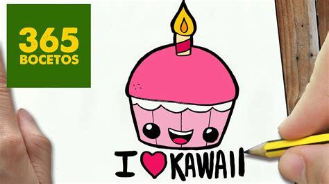 como dibujar cupcake kawaii paso  paso dibujos kawaii faciles   draw  cupcake youtube