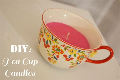 pink  pretty day  diy tea cup candles