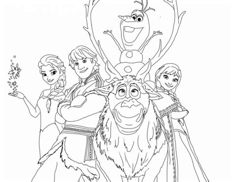 printable disney frozen coloring pages
