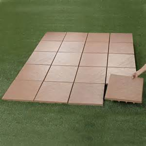 create an instant patio on any grass dirt or sand surface ultra lightweight tiles spiked
