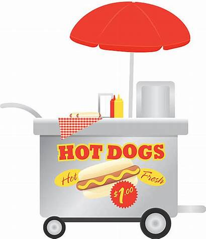 Dog Clipart Silhouette Vendor Stand Vector Happy
