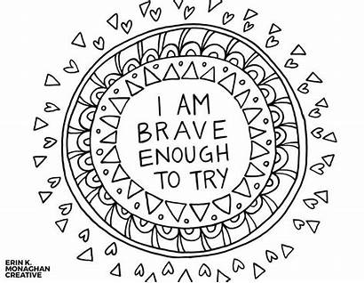 Coloring Positive Words Affirmations Positivity Thoughts Mindset