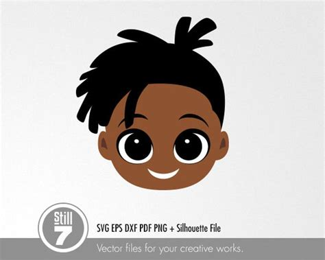 This product is digital file in svg format only. 3 African American Boy svg cutting file eps dxf pdf png   Etsy