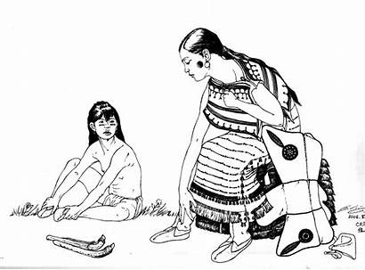 Coloriage Native Child Coloring Adult Indian Damerica