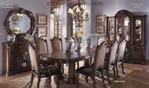 aico monte carlo ii cafe noir double pedestal dining room