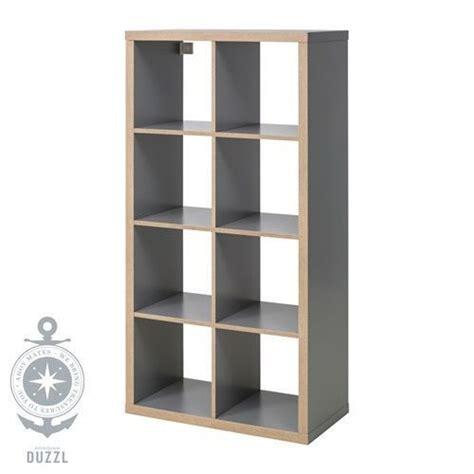 Kallax Regale Stapeln by Ikea Kallax Regal In Grau Holzeffekt 77x147cm