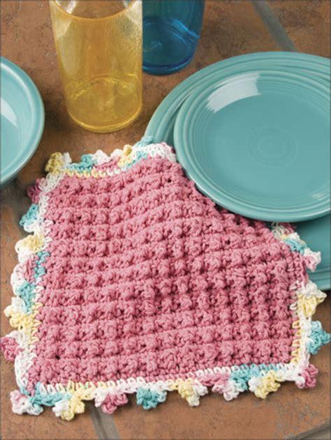wee bobbles free crochet pattern dishcloth design