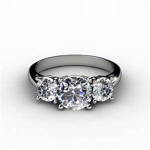 round brilliant three stone diamond engagement ring With 3 stone diamond wedding rings
