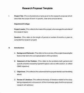 Proposal Format For Research Project Research Paper Outlines Report
