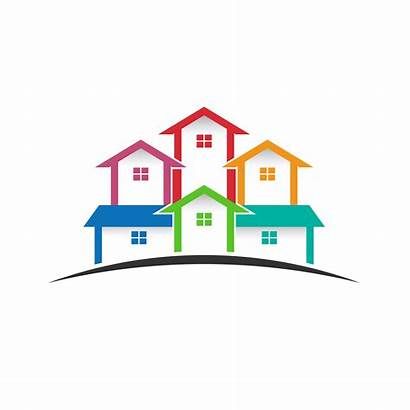 Estate Houses Clip Clipart Community Logos Facade