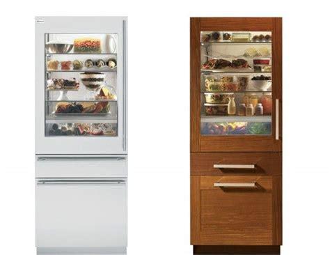 ge monograms     refrigerators  glass front door panels ooh la la  digs