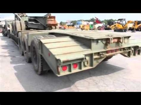 military trailer cer military lowboy trailer youtube