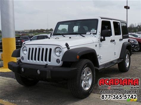 white jeep 2016 2016 bright white jeep wrangler unlimited sport 4x4
