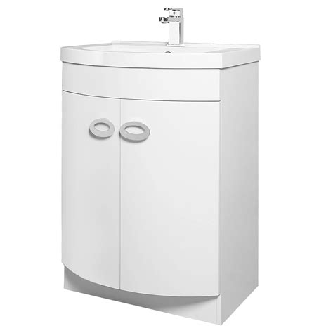 orion modern curved floor standing unit with basin