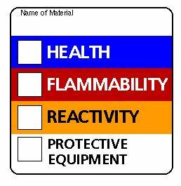 labels on chemicals non laboratory areas center for With hmis label template