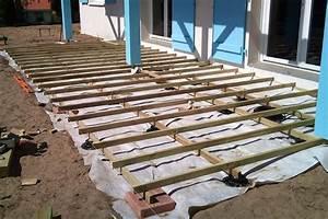pose d une terrasse en bois sur terre wasuk With poser une terrasse en bois sur terre