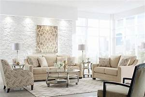 Mauricio Linen Contemporary Sofa And Loveseat Living