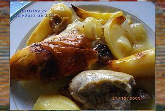 cuisiner une poularde poularde rôtie aux boudins blancs et aux marrons paperblog