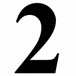 """Number 2 in Black Times New Roman Serif Font Typeface"