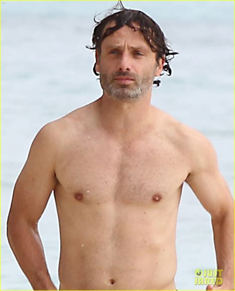 ross marquand family guy andrew lincoln goes shirtless for caribbean family