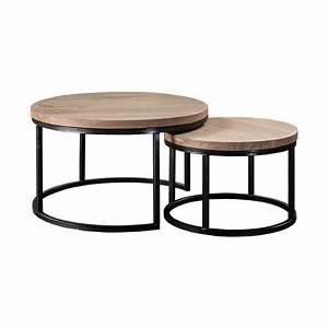 Table Basse Ronde Gigogne : table basse gigogne vaucluse en ch ne for me lab ~ Teatrodelosmanantiales.com Idées de Décoration
