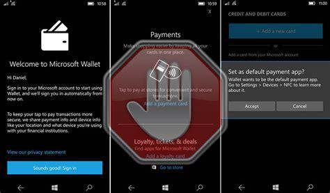 microsoft wallet per windows 10 mobile sar 224 ritirata dal 28 febbraio 2019 plaffo