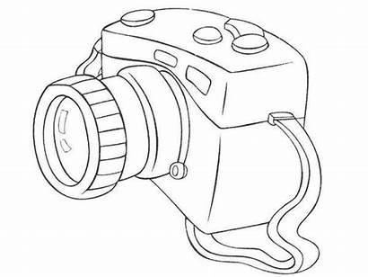 Camera Coloring Dslr Pages Drawing Drawings Sheet
