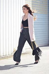Schwarze Tasche H M : classic look gestreifte marlene hose long blazer innerclassy fashion blog pinterest ~ Watch28wear.com Haus und Dekorationen