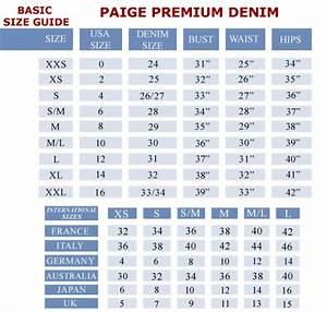 Women Jeans Size Chart Conversion Jeans Size Chart