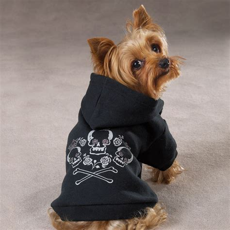 zack zoey fleece skull crossbone dog pet hoodie puppy