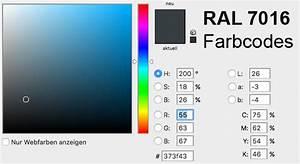 Ncs Farben Ral Farben Umrechnen : ral 7016 farbe als ncs alternative und rgb cmyk code ~ Frokenaadalensverden.com Haus und Dekorationen