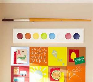 jumbo paint palette and paint brush eclectic kids wall With what kind of paint to use on kitchen cabinets for pottery barn kids wall art