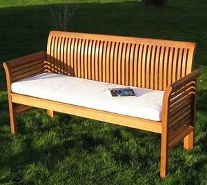 Lounge Bank Holz : 3 sitzer oder 4 sitzer bank auflage holz gartenbank no teak in garten terrasse m bel b nke ~ Sanjose-hotels-ca.com Haus und Dekorationen