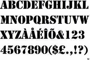 image gallery stencil font With fonts stencils letters