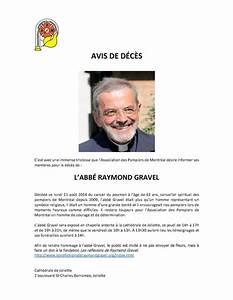 Avis De Deces Aisne : avis de d c s l 39 abb raymond gravel apm ~ Dailycaller-alerts.com Idées de Décoration