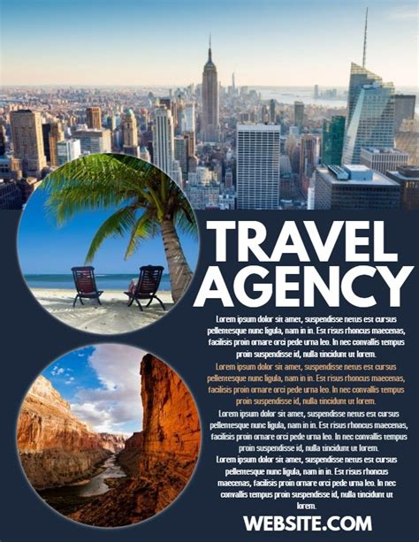 Travel Agency Ad Poster Flyer Social Media Template