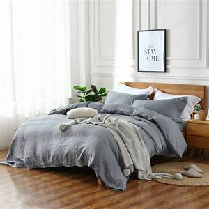 4, Piece, Set, Natural, Enzyme, Washing, 100, Pure, Linen, Bedding