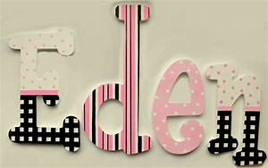 eden custom painted decorative hanging wood wall letters With colored letters to hang on wall