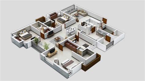 Three Bedroom House/apartment Floor Plans