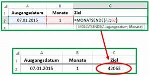 Tag Berechnen : excel datum mit der funktion monatsende berechnen ~ Themetempest.com Abrechnung