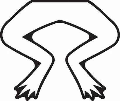 Legs Frogs Frog Clipart Leg Clip Template