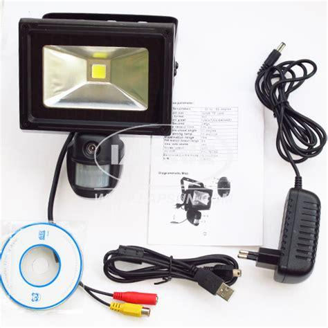 motion flood light with camera pir ir 720p hd video recorder motion camera dvr 10w auto