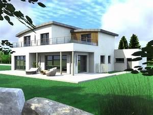 maison contemporaine bbc maison jardin exterieur With plans de maison en l 6 maison mobile en bois arkko