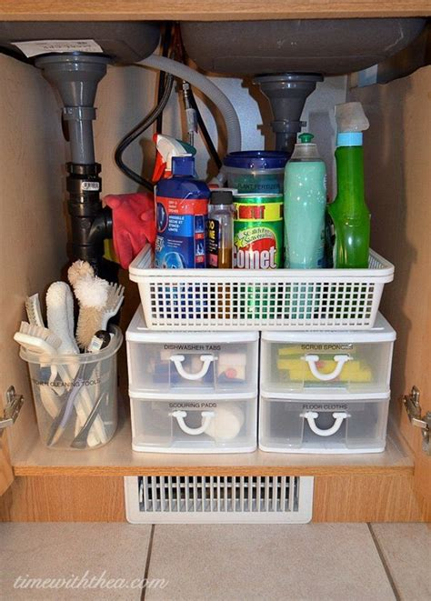kitchen sink storage 10 ways to make your rv kitchen storage more organized