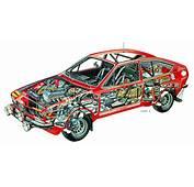 Alfa Romeo Alfetta GT Autodelta Group2 `1975  Cutaway
