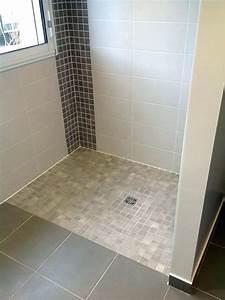 Receveur Salle De Bain : douche italienne plancher bois ides ~ Melissatoandfro.com Idées de Décoration