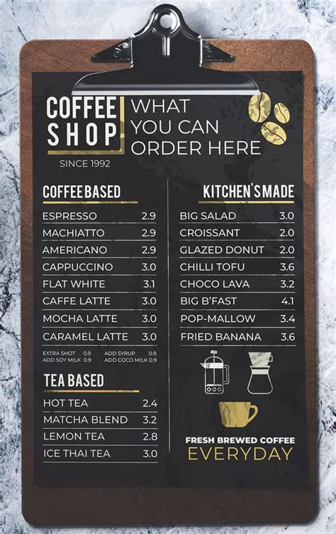 Coffee menu cute coffee pictures money.cup of coffee in bed coffee latte salted caramels.black coffee weightloss. Coffee Shop Menu by miaodrawing on Envato Elements   Coffee shop menu, Small coffee shop, Cafe ...