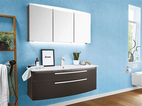 Badezimmer Spiegelschrank Ostermann by Badezimmerset 3 Tlg Sevilla In Grau Dekor Puris Und