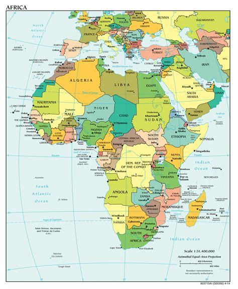 karty afriki merkator
