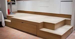 Lit Gain De Place Studio : estrade et lit fredfabric astuces gain de place ~ Premium-room.com Idées de Décoration